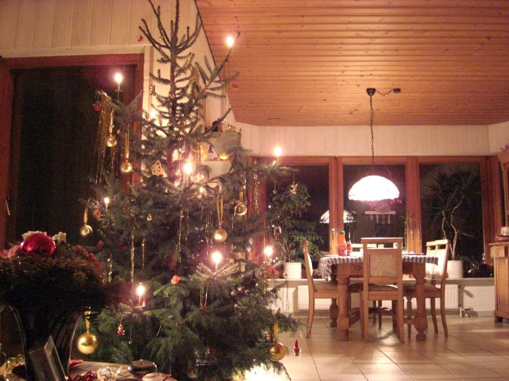 Weihnachtsbaum Familie