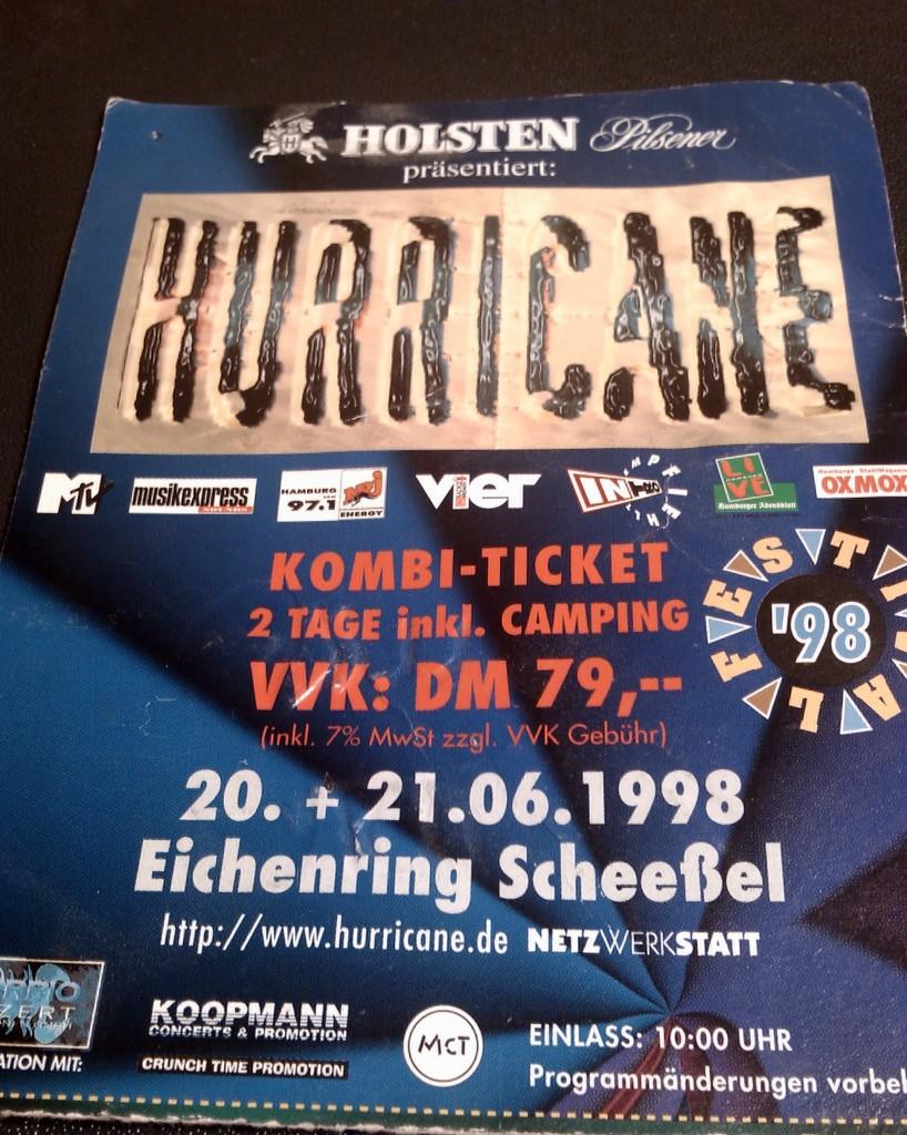 Hurricane Karten 1998