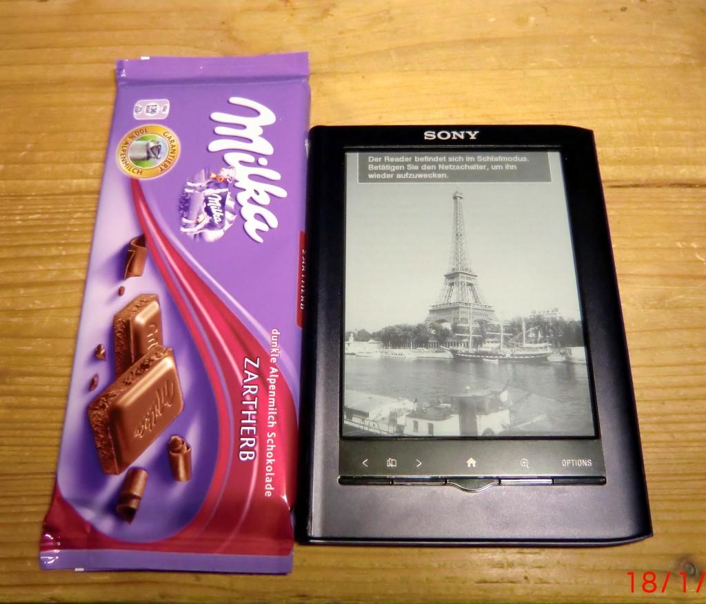 Sony PRS-350 vs eine Tafel Schokolade