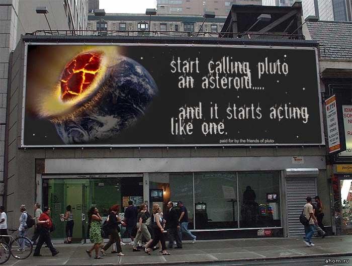 Start calling Pluto an Astroid