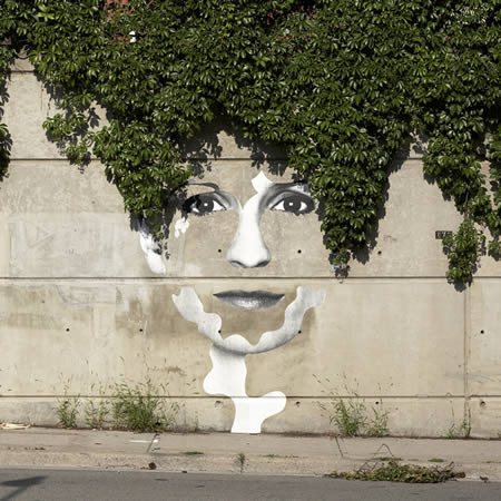 Street Art Lady Hair