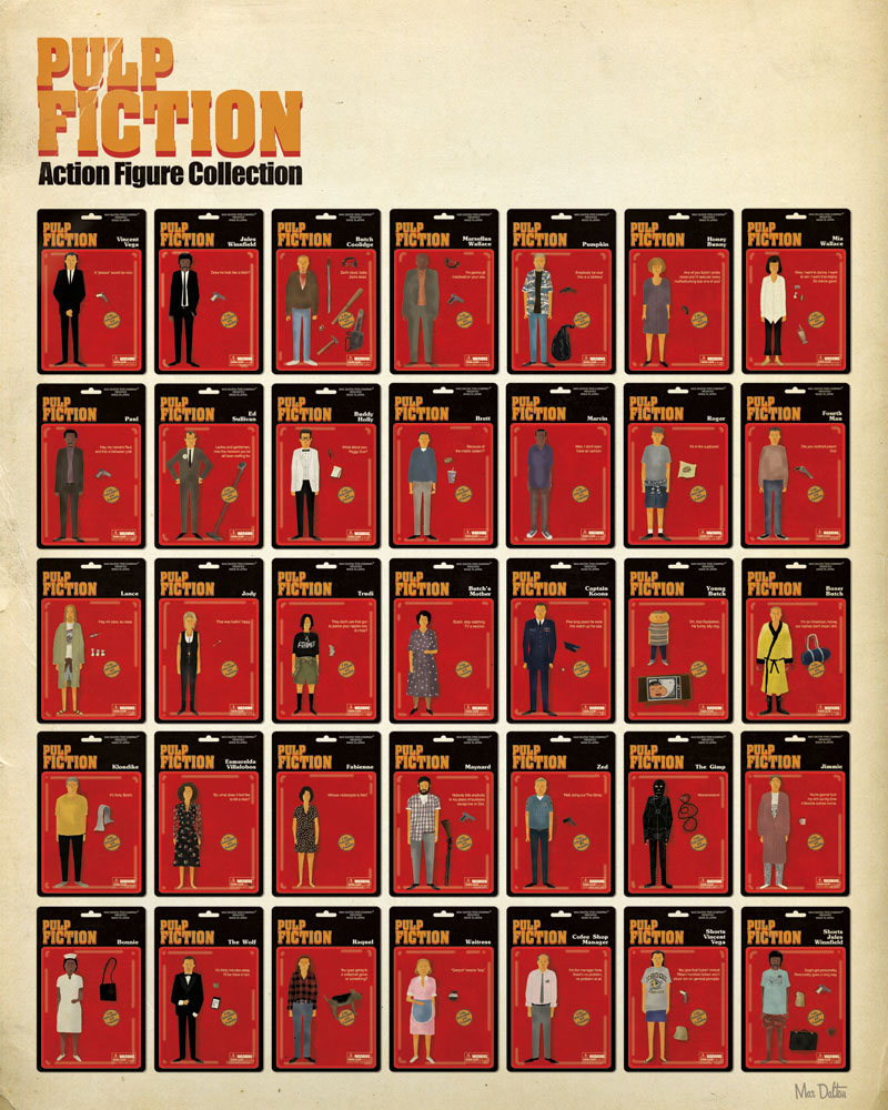 Pulp Fiction Actionfiguren Poster