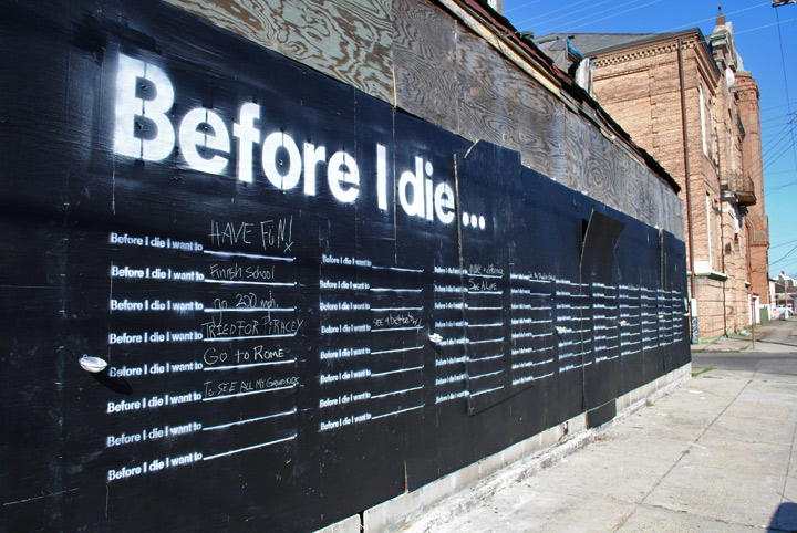 Street Art - Before I Die Wall