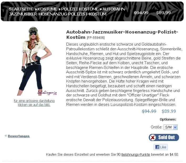 Autobahn Jazzmusiker Hosenanzug Polizist Kostüm