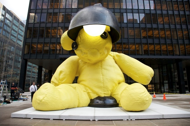 Giant Yellow Bear in New York